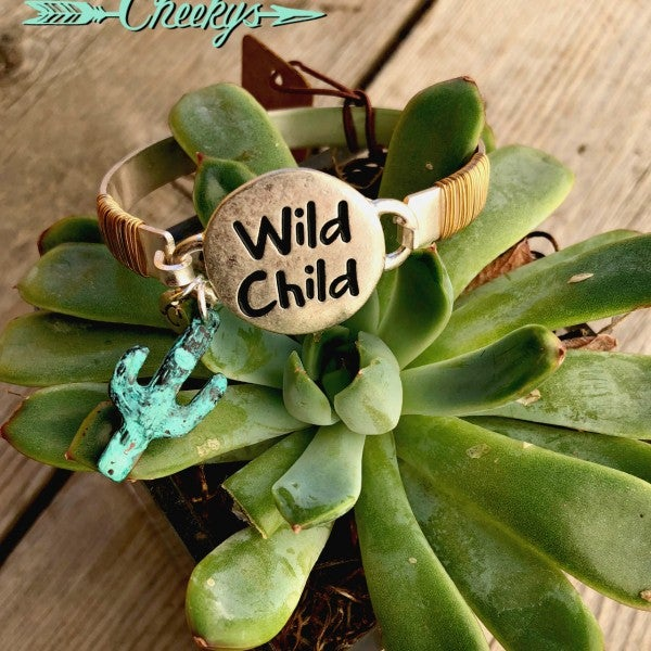 Wild Child Bracelet with Cactus Charm