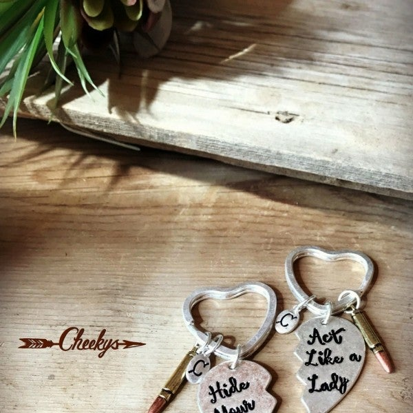 Cheekys Hide Your Crazy & Act Like a Lady Keychain Set