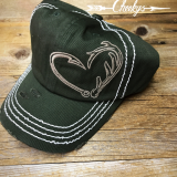 Cheekys Hunters Heart Hunters Green Cap with Arrow Detailing Underbill