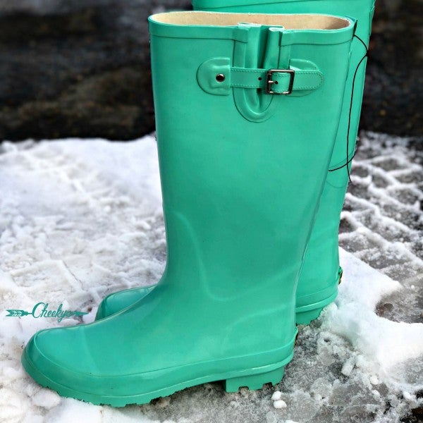 Tiffany Blue Rain Boots