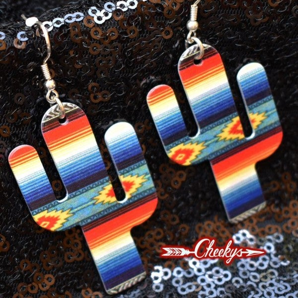 Cheekys Original Erica Serape Cactus Earrings