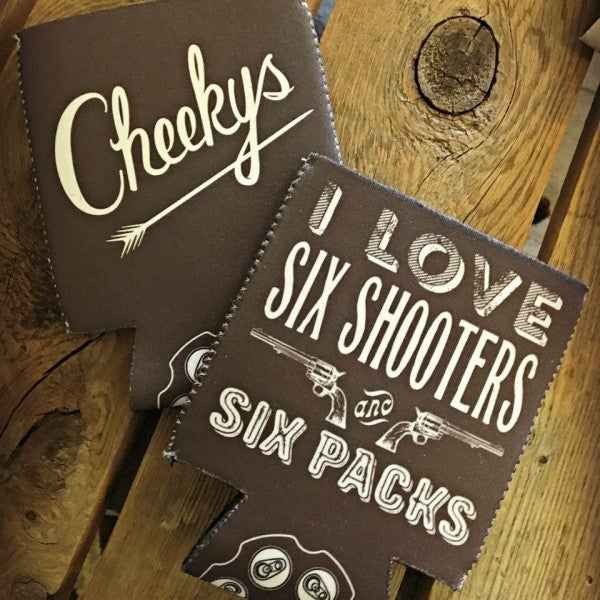 I Love Six Shooters and Six Packs Koozie