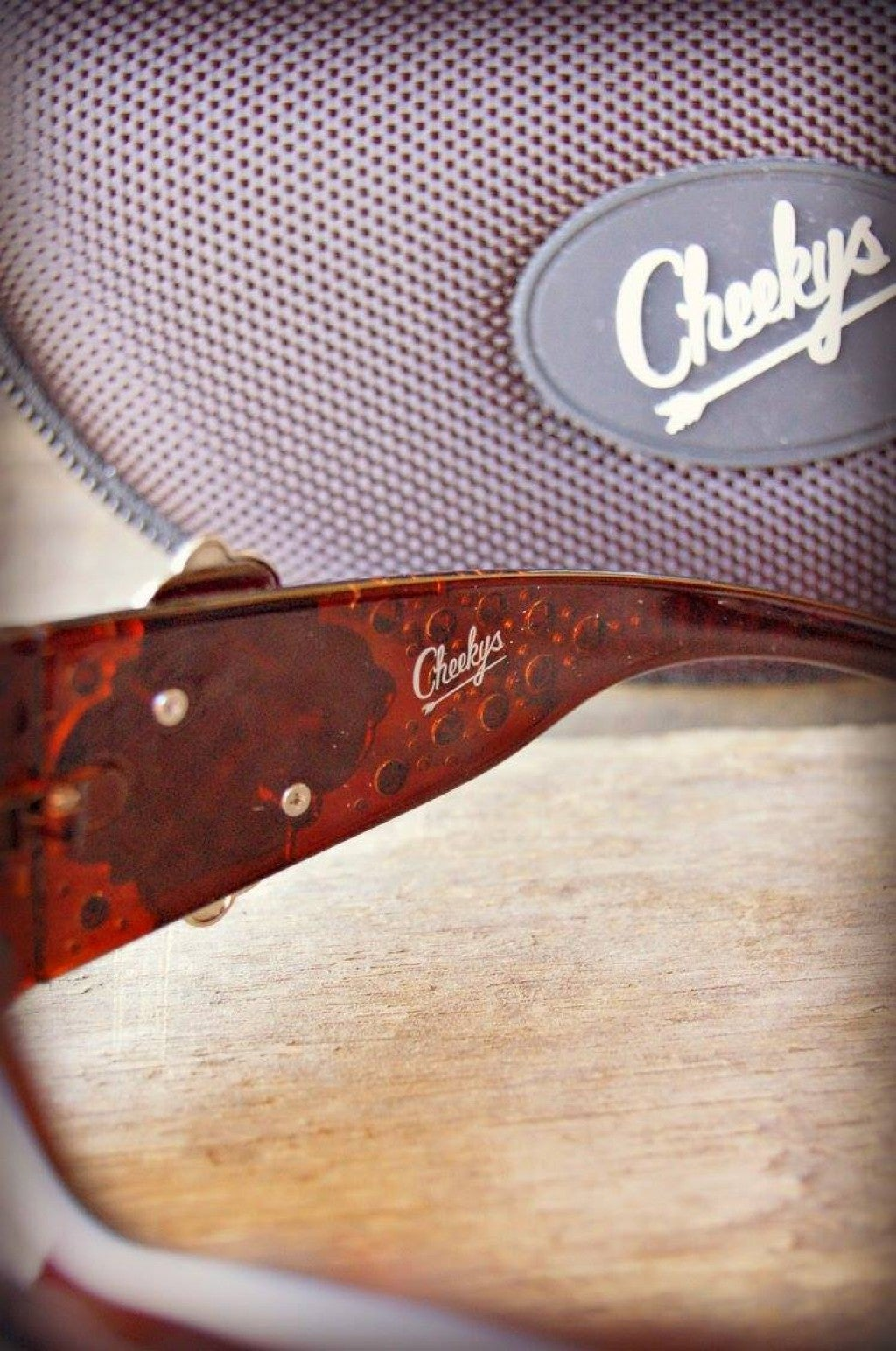 Cheekys Brown Concho Sunglasses with Champagne Stones