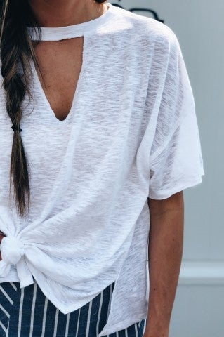 The Silence Top- White