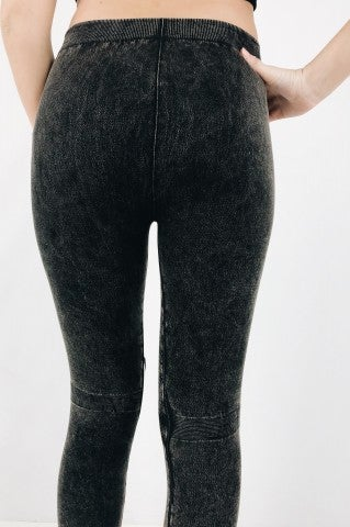 Destroyed Leggings - Charcoal