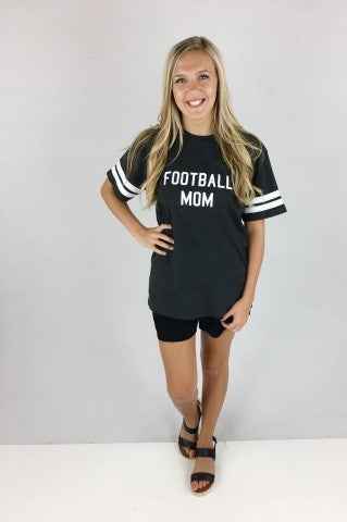 Football Mom Tee - Grey