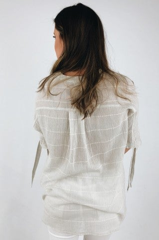 Crossroads Top- Taupe