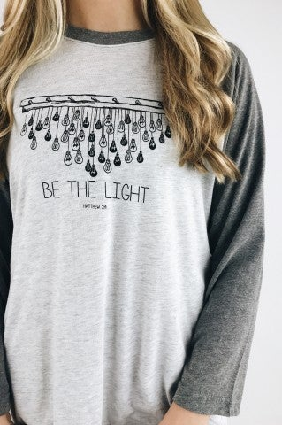 Be The Light Baseball Tee