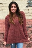 Counting Stars Sweater - Faded Plum