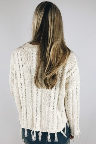 Believer Frayed Sweater