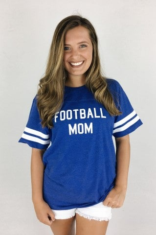 Football Mom Tee - Blue