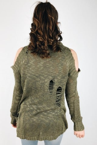 Not Too Late Sweater - Olive