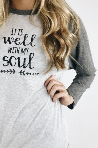 It Is Well Baseball Tee