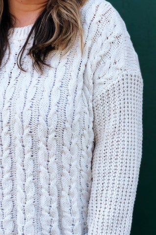 The Louise Sweater Plus  - Cream