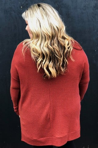 Fall Afternoons Top Plus- Rust