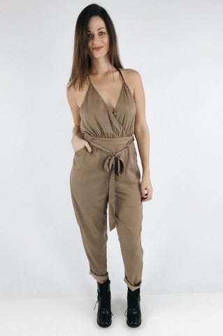 Mayberry Jumpsuit - Taupe