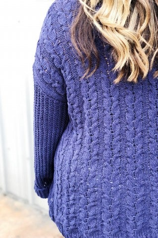 The Louise Sweater Plus  - Navy