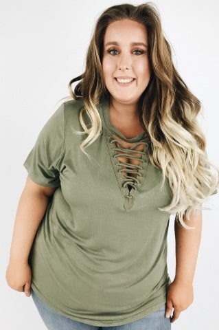 Fly Away Top - Olive