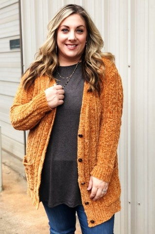 The Cozy Sweater Plus - Mustard