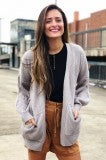 Wrap Around Cardi - Grey