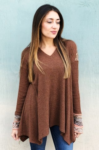 The Megan Top - Camel
