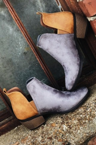 Living the Dream Bootie - Gray
