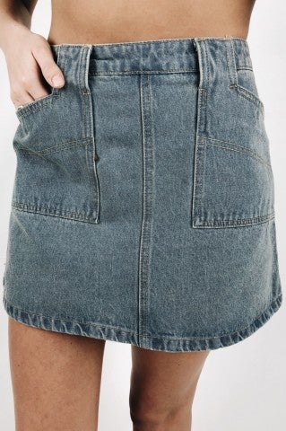 Capital Letters Denim Skirt