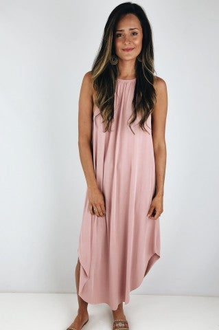 She Loves Control Maxi - Dusty Pink