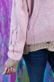 Mermaid Hooded Sweater - Dusty Peach