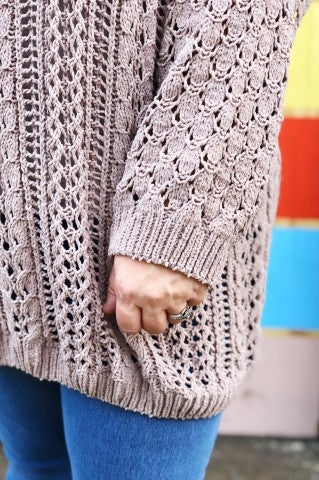 The Daisy Sweater - Plus  - Mocha