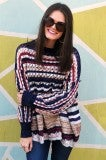The Colorful Sweater - Navy Mix