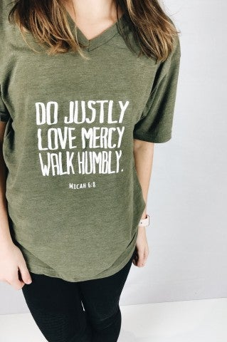Do Justly V-Neck