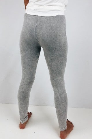 Outside The Lines Leggings - Cool Grey
