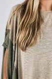 Spread Your Wings Poncho Tee- Taupe