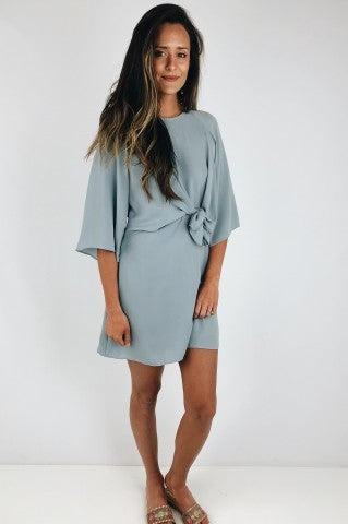 Dive Front Tie Dress