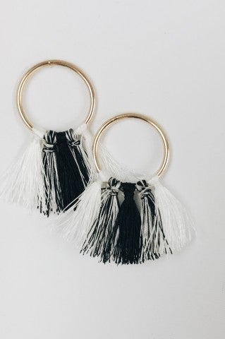 Knocker Fringe Hoops