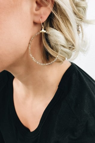 Makin' Moves Earrings - Champagne