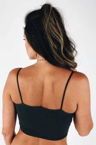 Georgia Cropped Bralette - Charcoal