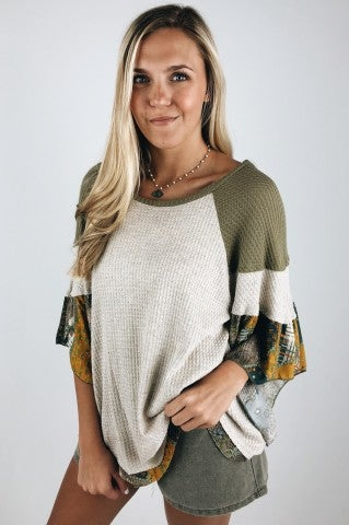 Summer of Love Top- Oatmeal