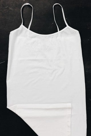 Simply Basic Plus Size Slip - White