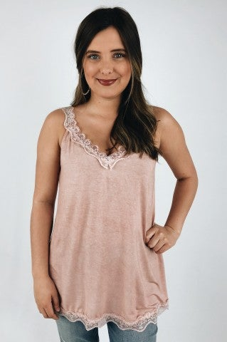 Sing Me A Lullaby Tank - Dusty Pink