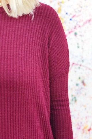 Fall Afternoons Top - Burgundy