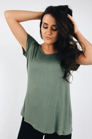Too Late For You Tee - Olive