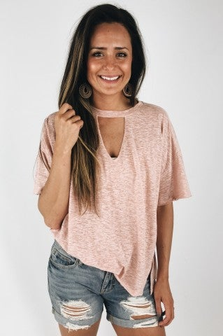 The Silence Top- Dusty Rose