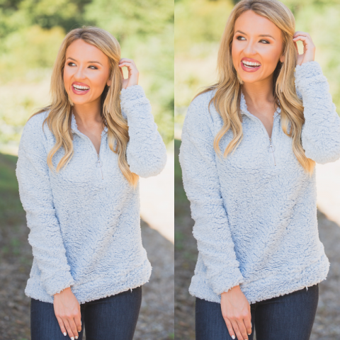 Cotton Candy Blue Pullover