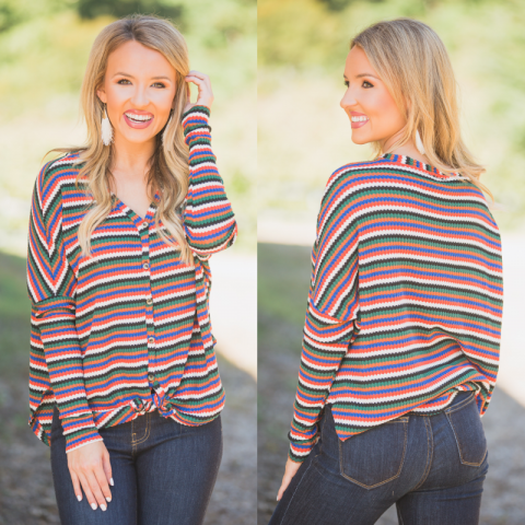 Multi- Colored knot front top
