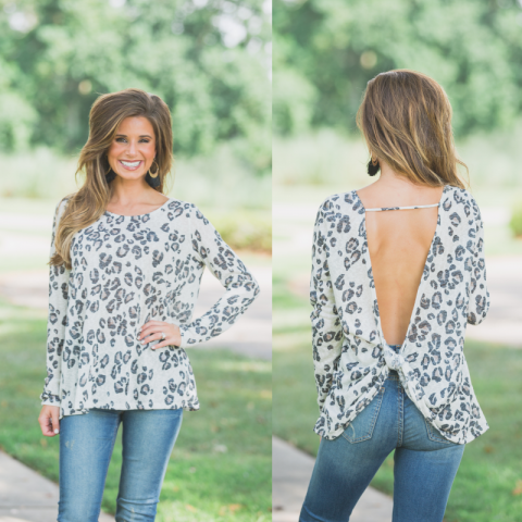 Ivory Snow Leopard Top