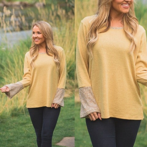 Honey Textured Knit Top