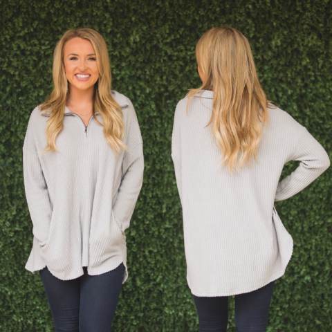 Light Grey Knit Pullover