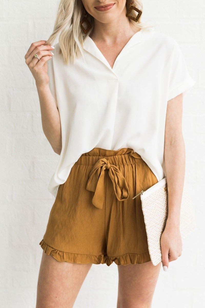 It's All in the Flounce Shorts